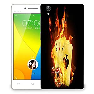 Snoogg Triple ace fire Designer Protective Back Case Cover For VIVO Y51 L