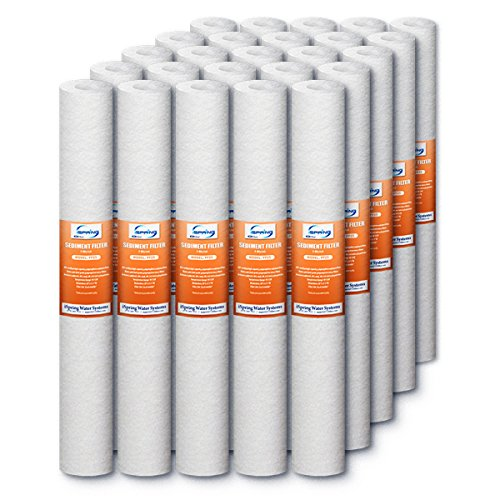 iSpring FP25X25 5 Micron 20-Inch X 2.5-Inch Sediment Filter Replacement Cartridges, 25-Pack (20 Inch Sediment Water Filter compare prices)