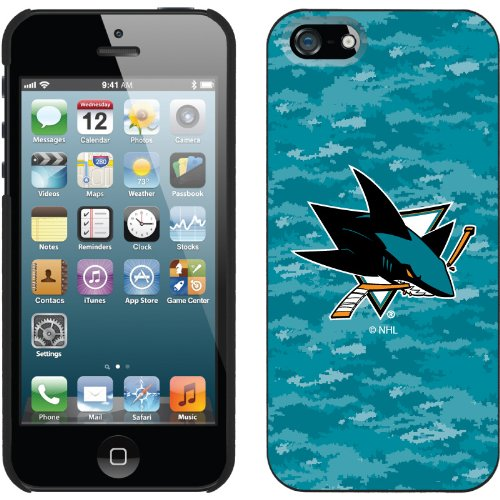 Great Price San Jose Sharks« Digi Camo Color design on a Black iPhone 5s / 5 Thinshield Snap-On Case by Coveroo