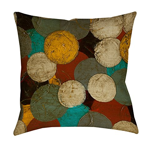 Thumbprintz Square Throw Pillow, 16-Inch, Circumlocution front-485431
