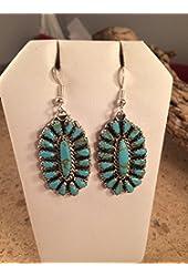 Leslie Nez Turquoise Dangle Earrings