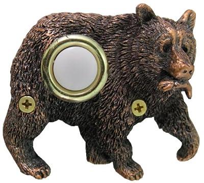 Company's Coming DBZ-069 Bear Bronze Doorbell Cover