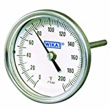 WIKA TI.30 Stainless Steel 304 Process Grade Resettable Bi-Metal Thermometer, 3