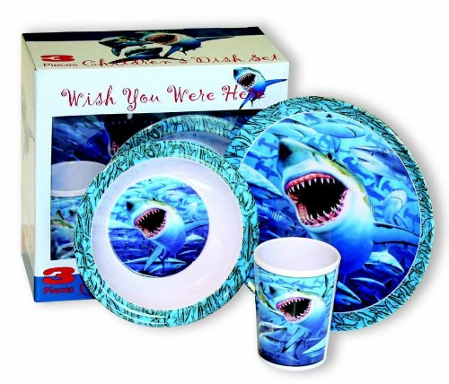 Motorhead Products Wish You Were Here' Sharks 3-Piece Children's Dish Set