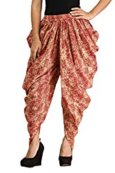 Dhoti Pants for Girls & Women in Cotton - Multicolour Printed Harem Pants - Free Size Dhoti Pants for Girls - by Ankita