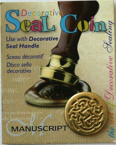 Manuscript Pen 727CEL Decorative Seal Coin, 0.75-Inch, Celtic Rose - 1