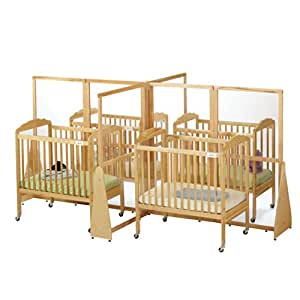 Jonti-Craft Home Indoor Kids Playschool Classroom Kindergarten See-Thru Crib Divider - Quad