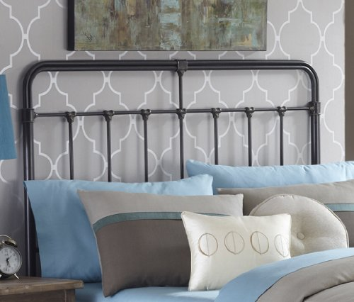 Fairfield Metal Headboard with Spindles and Castings, Dark Roast Finish, Full (Headboard Full Metal compare prices)