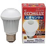 アイリスオーヤマ LED電球 E26口金 30W形相当 電球色 下方向タイプ 人感センサー エコハイルクス LDA5L-H-S5
