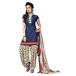 Aagaman Fashion Polyester Unstitched Salwar Suit (TSLCSK5073_Blue)