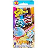 Mr. Sketch Stix Washable Scented Watercolor Markers, Fine-Tip, Set of 6, Movie Night Colors (1924301)
