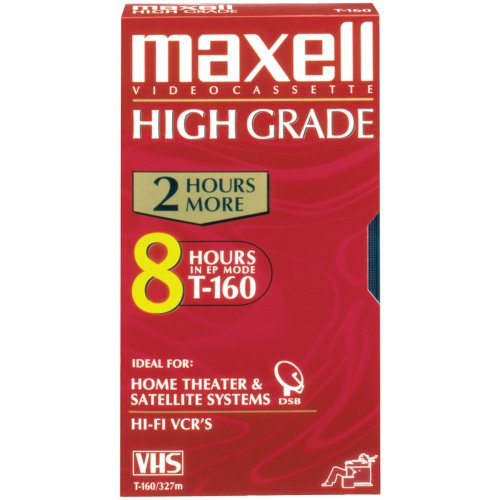 Lowest Price! MAXELL T-160HG High Grade VHS Video Cassette