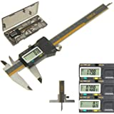 "iGaging ABSOLUTE ORIGIN 0-6"" Digital Electronic Caliper Inch / Metric / Fraction IP54 Protection Bonus: Depth Gauge Base"