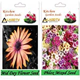 Alkarty Mid Day And Phlox Mixed Flower Seeds Pack Of 20 (Winter)
