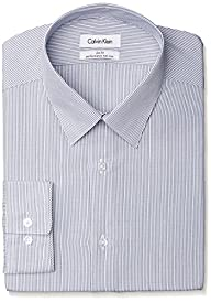 Calvin Klein Men's Slim Fit Non Iron Stripe