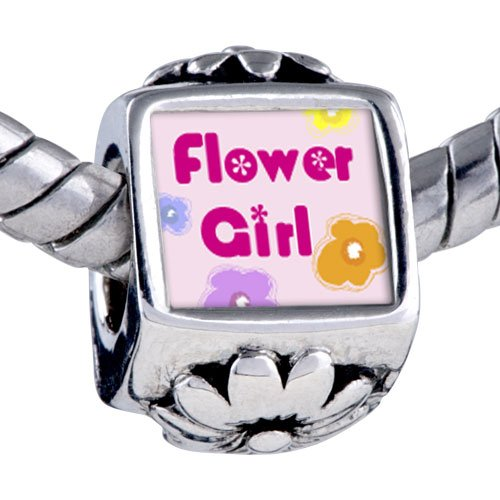 Pandora Style Bead Character Flower Girl Photo European Charm Beads Fits Pandora Bracelet