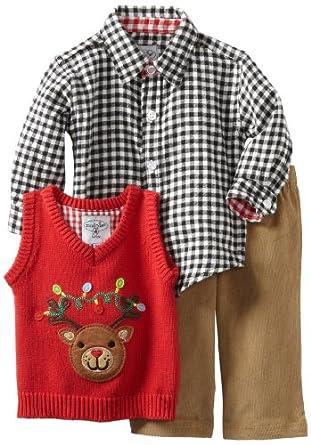 Amazon.com: Mud Pie Baby Boys' Reindeer 3 Piece Set, Multi ...