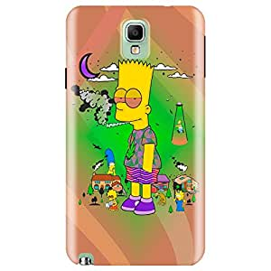 Wildpunch WP-SN3(24) High Simpsons Designer Phone Back Cover Case For Note 3 (Multicolor)