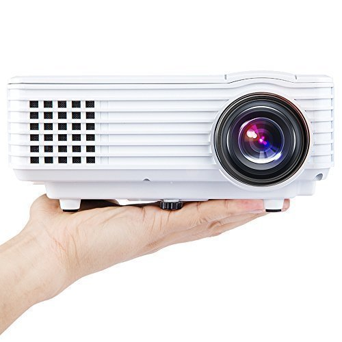 Best Prices! DBPOWER Portable Multimedia Mini LED Projector with USB VGA HDMI AV for Party,Home Ente...