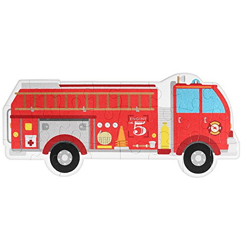 24 Piece Jumbo Fire Engine Floor Puzzle by Imagination Generation - 1