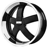 "Verde Custom Wheels Skylon Black Wheel with Machined Lip (18x8""/5x115 mm)"