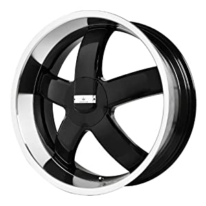 "Verde Custom Wheels Skylon Black Wheel with Machined Lip (22x8.5""/5x4.5"")"