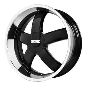"Verde Custom Wheels Skylon Black Wheel with Machined Lip (22x8.5""/5x4.5"")"
