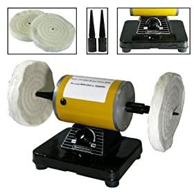 New Bench Buffer Polisher Grinder Buffing Polishing Machine