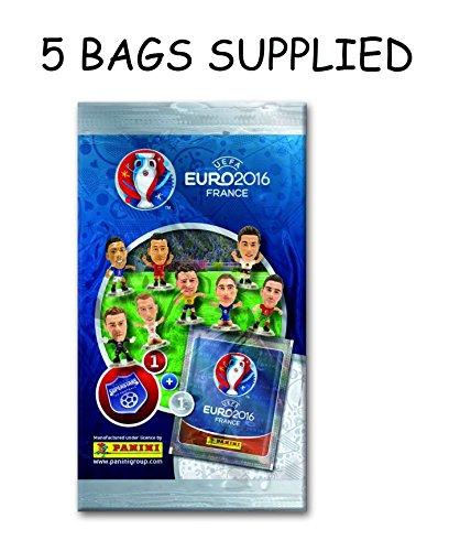 Panini Euro 2016 Superstars de Football - 5 PACKS FOURNI (expédiés à partir du Royaume-Uni)