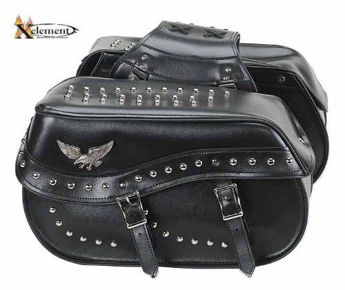 Waterproof Studded Eagle Double Buckle Classic Motorcycle Saddlebags
