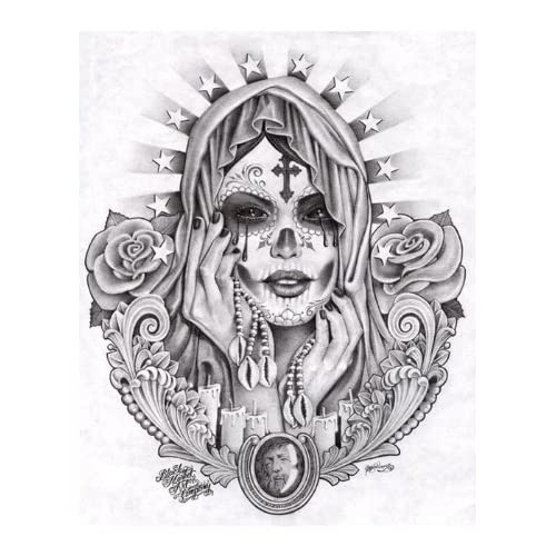 la santa muerte coloring pages - photo #6