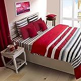 House This 100% Cotton 1 Double Duvet Cover Smart Stripe Blue