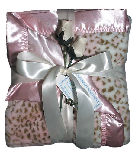Raindrops Faux Fur Receiving Blanket, Pink