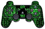 GameXcel ® Sony PS3 Leather Texture Controller Skin - Custom Playstation 3 Remote Vinyl Sticker - Play Station 3 Joystick Decal - Green Digicamo