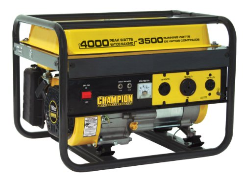 Champion Champion Power Equipment 46533 4,000 Watt 196cc 4-Stroke Gas Powered Portable Generator (CARB Compliant) B004054GN8