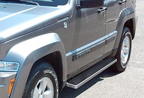 iBoard Third Generation 5-Inch Silver Aluminum Running Boards Side Step For Selected Jeep Liberty (Running Boards For A Jeep Liberty compare prices)