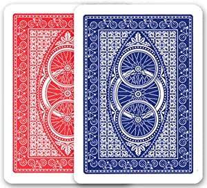 Modiano 2 Decks of 100% Plastic Italian Playing Cards - Bike Trophy - Poker Size Normal Index