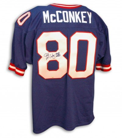 Phil McConkey Autographed/Hand Signed Custom Blue Jersey at Amazon.com