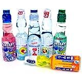 Ramune Japanese Soft Drink Mix Variety 6 Flavors 6 Bottles