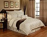 Austin Horn En' Vogue 4 piece Glamour Comforter Set, California King, Pearl