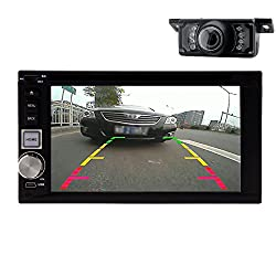 See Android VX4.2.2 Double Din 6.2-Inch TFT Capacitive Car Stereo 2.0 DIN MultiMedia Receiver with Built-In Bluetooth and in Mic/USB/App Control +Rear Camera Details