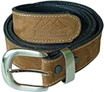 Atitlan Leather Caramel Brown Suede Leather Money Belt 40