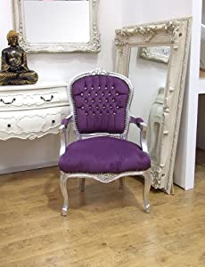 louis style french shabby chic lounge dining arm chair
