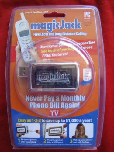 magicJack: PC to Phone Jack PackageQuantity: 1 Style: Black, Model:magicJack, Office Accessories & Supply Shop (Phones To Use With Magic Jack compare prices)
