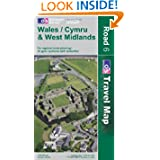 Wales and West Midlands (OS Travel Map - Road Map)
