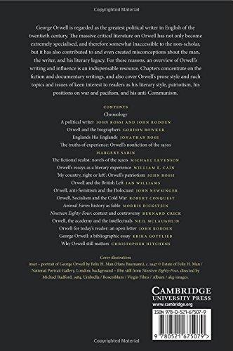 The Cambridge Companion to George Orwell Paperback (Cambridge Companions to Literature)