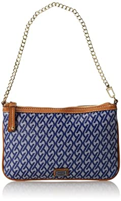 Nine West Printed Chain Clutch,Ultramarine Combo,One Size