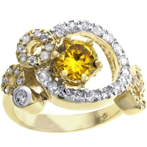 Laurene Bijoux Paris Ladies Ring CZ Diamond Lean 10