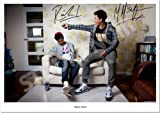 RIZZLE KICKS RAPPERS HIP HOP SIGNED AUTOGRAPH PHOTO A4 12X8 INCHES PRINT POSTER