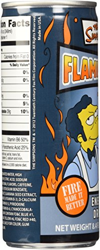 The Simpsons Flaming Moe Energy Drink,8.4 FL OZ.